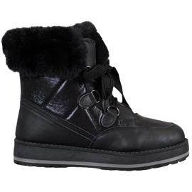 Muto Glanzende sneeuwlaarzen zwart