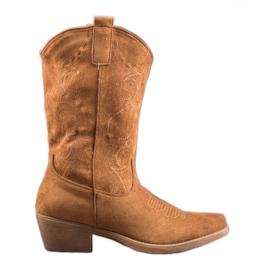 Seastar Slip-on cowboylaarzen met patroon bruin