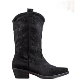 Seastar Slip-on cowboylaarzen met patroon zwart