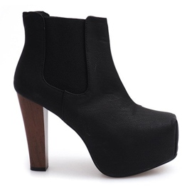 Laarzen Solid Heels K823 Zwart