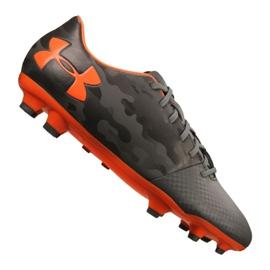 Under Armour Spotlight Dl Fg M 1289534-101 voetbalschoenen grijs grijs, oranje