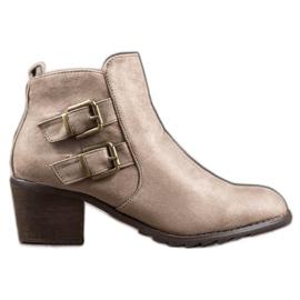 Kylie Comfortabele laarzen met gespen bruin