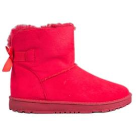 Haver Comfortabele Mukluki rood