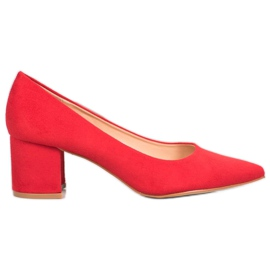 SDS Casual rode pumps rood