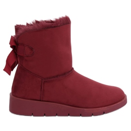 Dames snowboots maroon A-3 Wine Red rood