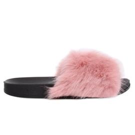 Roze Slippers met bont roze CK107P Roze