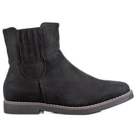Clowse Comfortabele suède laarzen zwart