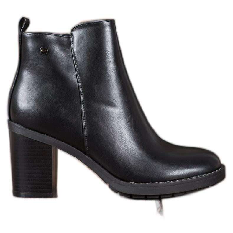 Ideal Shoes Comfortabele hoge hakken zwart
