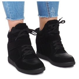 Wedge Sneakers LA-70 Zwart