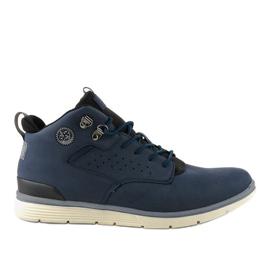 Donkerblauwe geïsoleerde wandelschoenen voor heren X925-2 marine