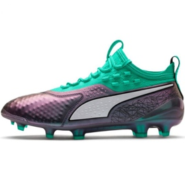 Puma One 1 Il Lth Fg Ag M 104925 01 voetbalschoenen groen