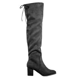 Clowse Elegante suede laarzen zwart