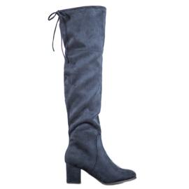 Clowse Elegante suede laarzen blauw
