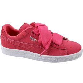 Puma Suede Heart Jr 365135-01 schoenen rood