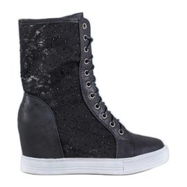 Seastar Opengewerkte laarzen zwart