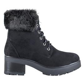 Goodin Zwarte laarzen met bont