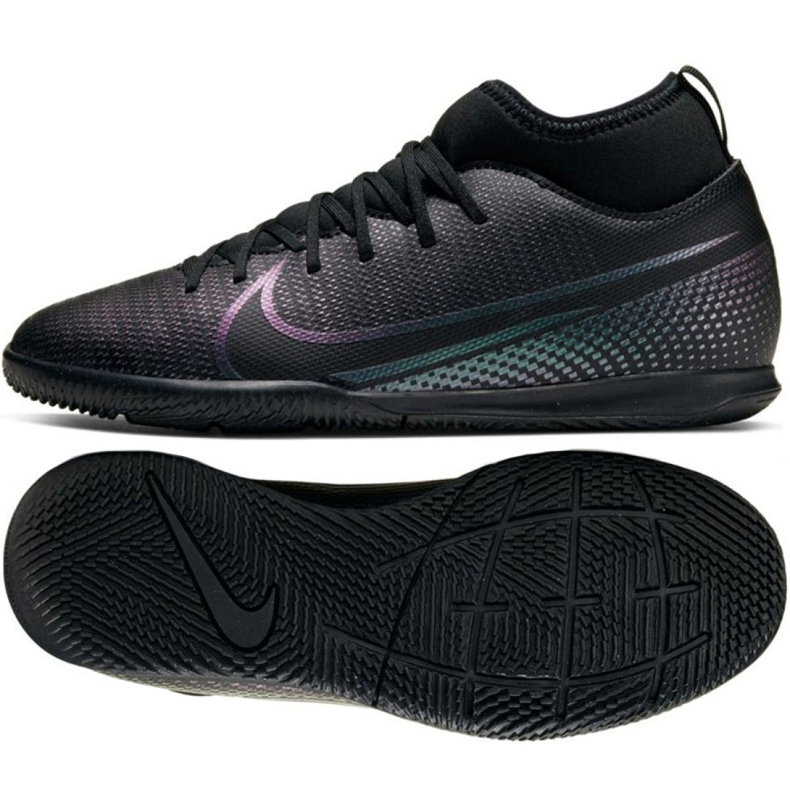 Nike Mercurial Superfly 7 Club Ic Jr AT8153-010 indoorschoenen zwart zwart