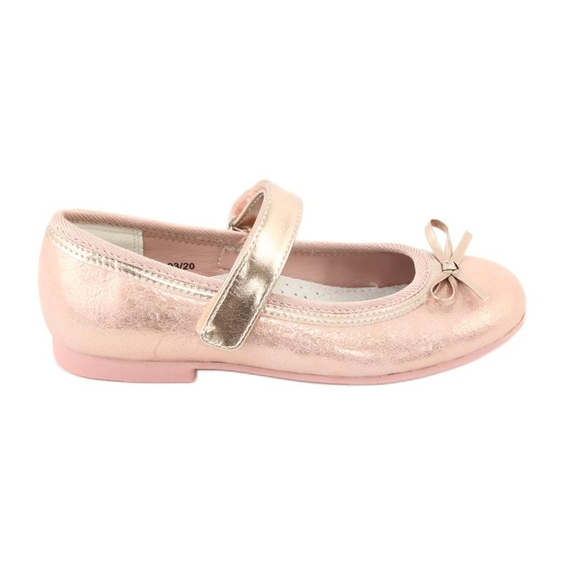 Golden Rose Ballerina's met American Club strik GC03 / 20 roze geel