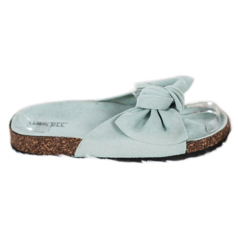 SHELOVET Suede-slippers met strik groen