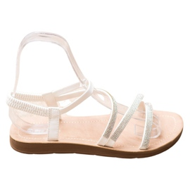 Sea Elves Elegante instap sandalen wit