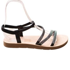 Sea Elves Elegante instap sandalen zwart