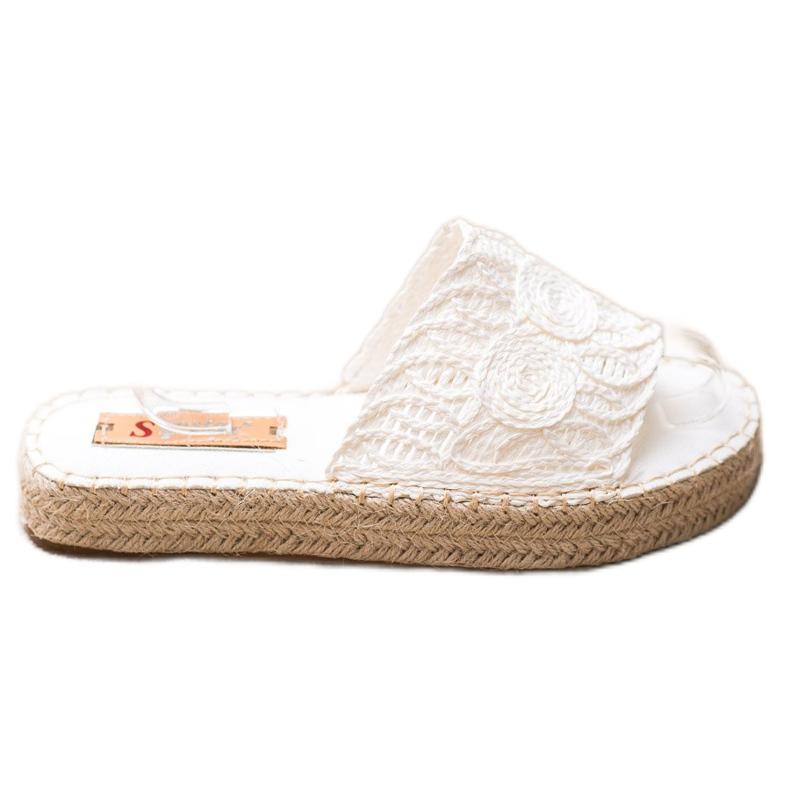 Seastar Flip Flops Op Een Rietplatform wit