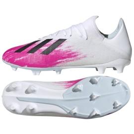 Adidas X 19.3 Fg M EG7132 voetbalschoenen wit rood