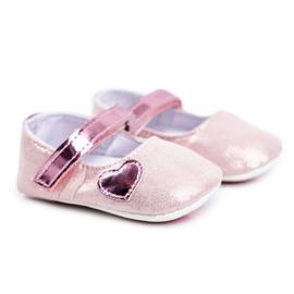 Apawwa Baby sneakers Velcro doop roze Bellawa