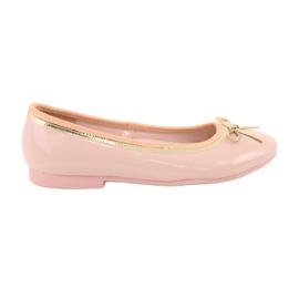 American Club Gelakte Amerikaanse ballerina's 14297 roze geel