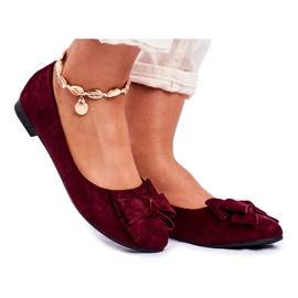 SEA Jordos ballerina's voor dames rood