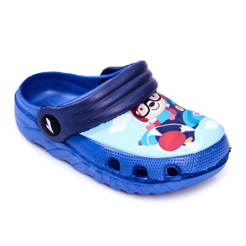Kinderpantoffels Foam Crocs Blue Bear Pilot SuperFly blauw