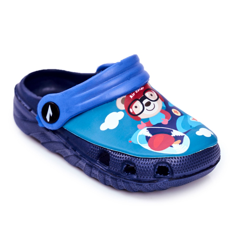 Slippers voor kinderen Foam Crocs Navy Blue Teddy Bear Pilot SuperFly