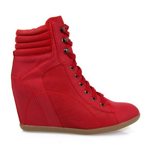 Sneakers Boots On Wedge 562 Rood