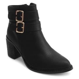 Boots On Heel F026 Zwart