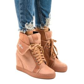 Roze sneakers met veterschoenen B12-22