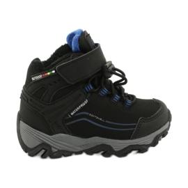 Softshell-laarzen met American Club-membraan zwart blauw