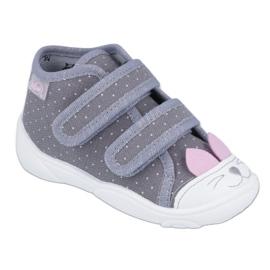 Befado kinderschoenen 212P059 roze grijs
