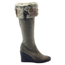 Caprice boots boots dames leer 25607 grijs