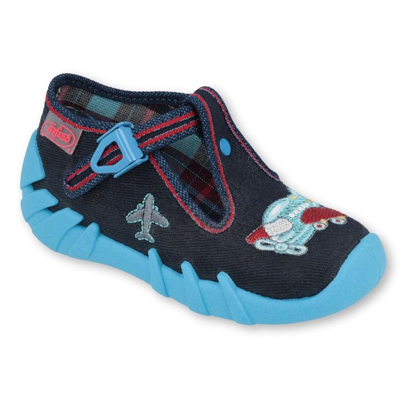 Befado kinderschoenen 110P404 rood marineblauw blauw