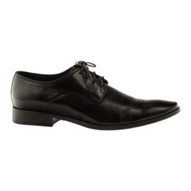 Leren schoenen Pilpol 1385 zwart