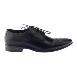 Zwart Leren schoenen Herenschoenen Pilpol 1262