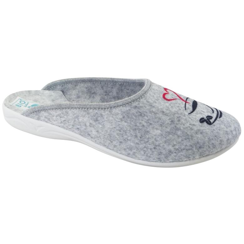 Vilten pantoffels Wake Up Adanex 25642 Grijs