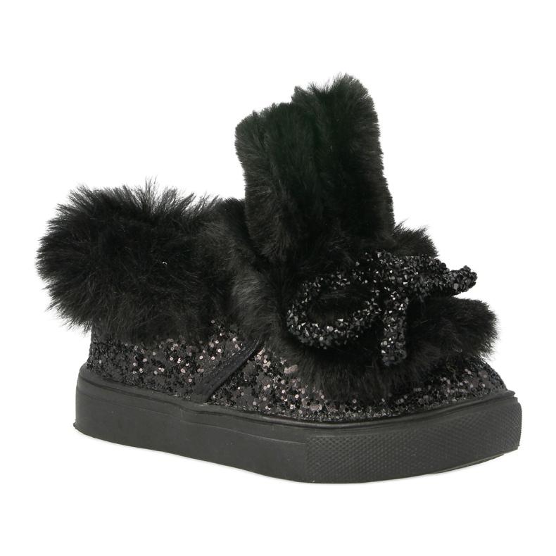 FRROCK Zwarte Mumi Warm-sneakers voor kinderen