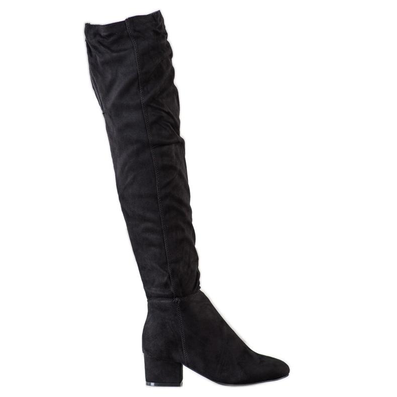 Fashion Zwarte dij-hoge laarzen