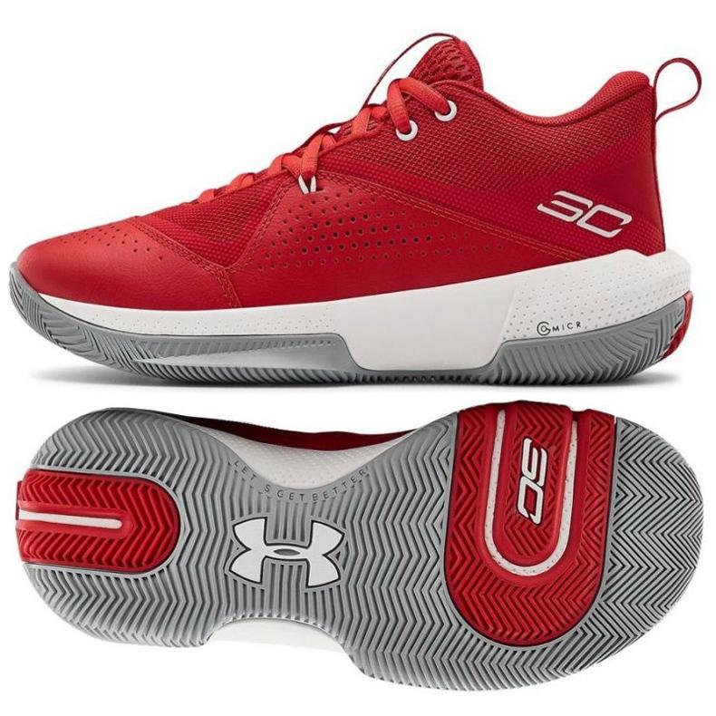 Under Armour Gs Sc 3Zero Iv Boys Jr 3023918-600 basketbalschoenen veelkleurig rood