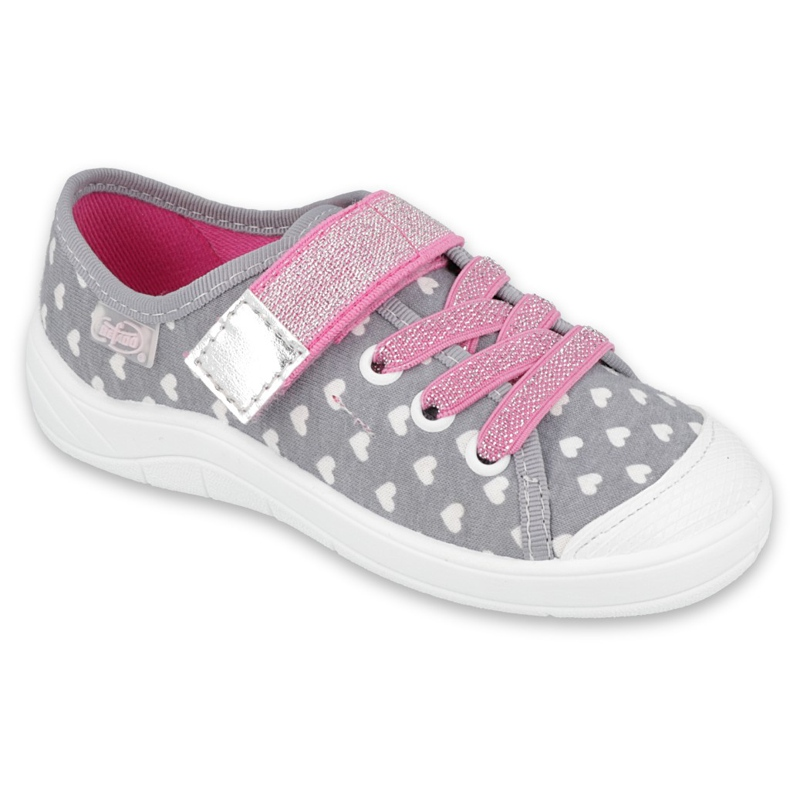 Befado kinderschoenen 251X159 roze grijs