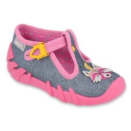 Befado kinderschoenen 110P395 roze grijs
