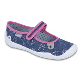 Befado kinderschoenen 114Y309 marineblauw roze veelkleurig