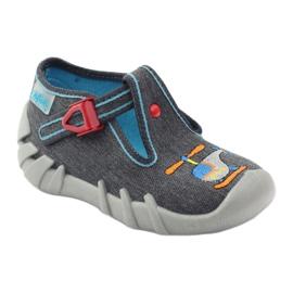 Befado kinderslippers 110p307 rood grijs oranje blauw 1