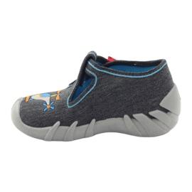 Befado kinderslippers 110p307 rood grijs oranje blauw 2
